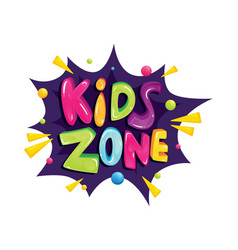 Kids zone banner template vector