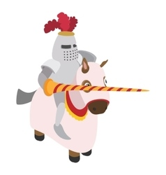 Knight with spear and horse vector image