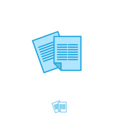 letters document icon paper list emblem vector image