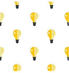 Light bulb pattern flat vector