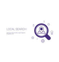 Local search web banner with copy space seo vector