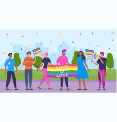 march parade lgbt pride vector image