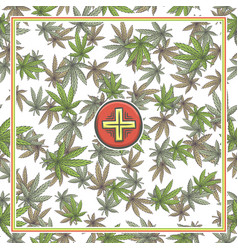 Marijuana medical banner four vector