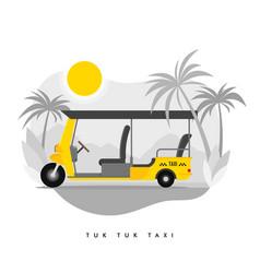 modern flat tuk tuk auto rickshaw tricycle taxi vector image