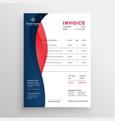 Modern professional invoice template design vector