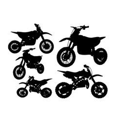 motorbike transportation silhouette vector image