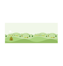 nature landscape at day time summer vacation vector image