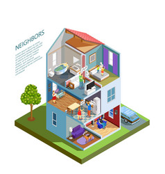 Neighbors isometric composition vector