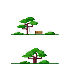 Outdoor scene with tree vector