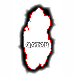 Outline map of qatar vector