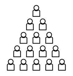 people pyramid icon black color flat style simple vector image
