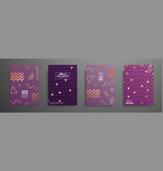 placard templates set with abstract geometric vector image