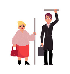 plump middle age woman housewife standing in vector image