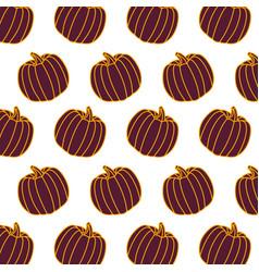 pumpkin vegetable food fresh pattern vector image