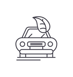 retro car line icon concept retro car vector image