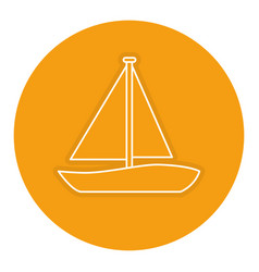 Sailboat travel isolated icon vector