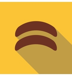 Sausage icon flat style vector