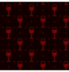 seamless background with wineglasses vector image