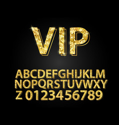 set gold font shapes composition classic style vector image