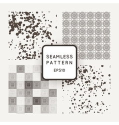 Set of seamless patterns of of different vector image