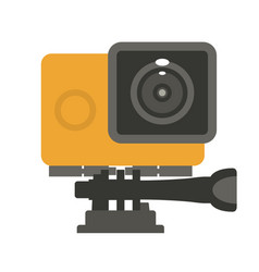 Simple action camera icon - flat video cam vector