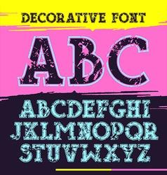 Slab serif font with contour vector