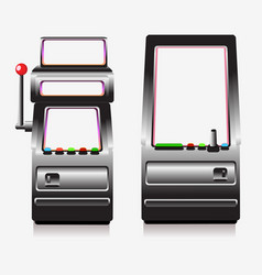 slot machine and arcade game vector image