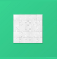 square shield jigsaw puzzle realistic vector image