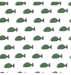 swimming fishes seamless pattern vector image