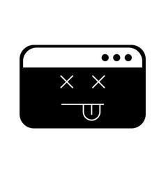 Template webpage kawaii character vector