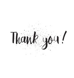Thank you inscription Greeting card with vector