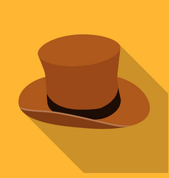 Top hat icon in flat style isolated on white vector