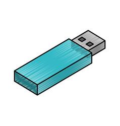 Usb memory isometric icon vector