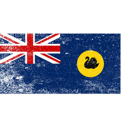 Western australia grunge flag vector