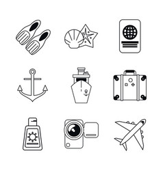 white background with monochrome graphics set of vector image vector image