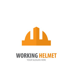 working helmet logo for business company simple vector image