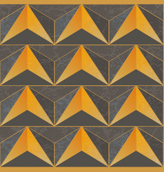 yellow color triangle pattern vector image