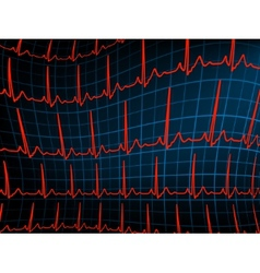 ECG tracing monitor EPS 8 vector image