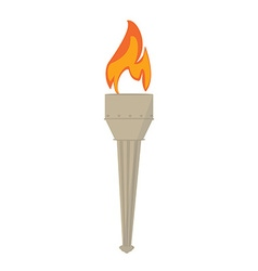 Fire torch vector image vector image