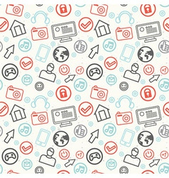 social media and internet seamless pattern - vector image vector image