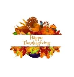 Thanksgiving autumn harvest decoration banner vector image vector image