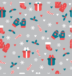 christmas seamless pattern christmas and new vector image vector image