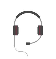 Headphones isolated flat cartoon headset vector image