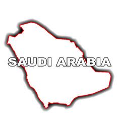 outline map of saudi arabia vector image vector image