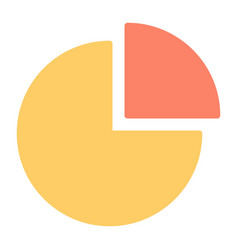 pie chart silhouette icon 48x48 minimal pictogram vector image