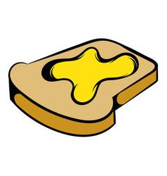 slice of bread with honey icon icon cartoon vector image vector image