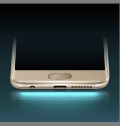 Smartphone bottom vector