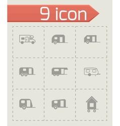 trailer icon set vector image vector image