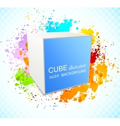 Background with cube vector image vector image