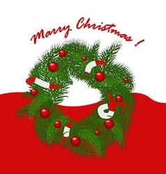 Christmas garland with balls and ribbons vector image